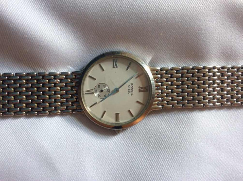 relógio de pulso fóssil steel
