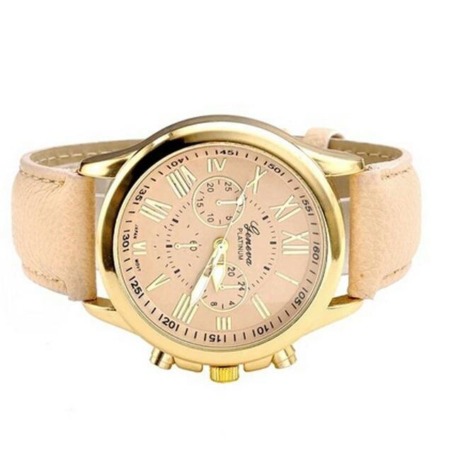 831deaf63d5 Relógio De Pulso Geneva Pulseira Couro Menor Preço - R  30