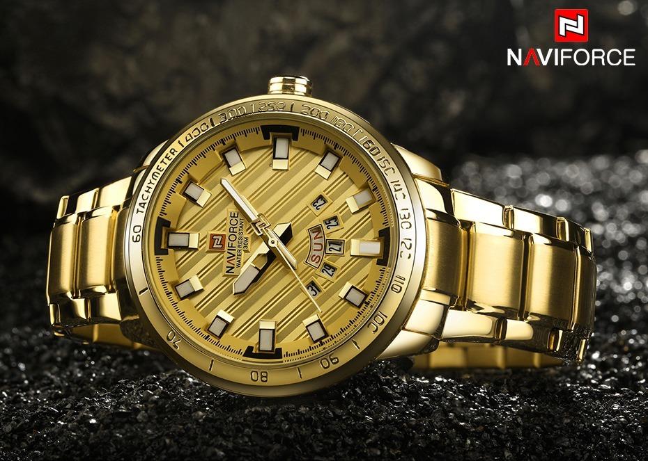 ef55ffebec8 relógio de pulso grande dourado barato marca famosa promoção. Carregando  zoom.