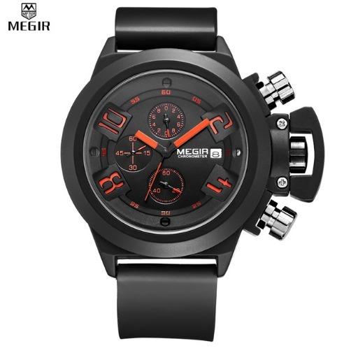 8ba99eb7c6a Relógio De Pulso Homem Exército Militar Original Megir - R  185