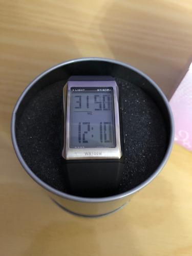relógio de pulso lince sdtf001 borracha preto digital