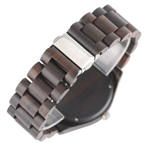 relógio de pulso - madeira escura - novo - pronta entrega