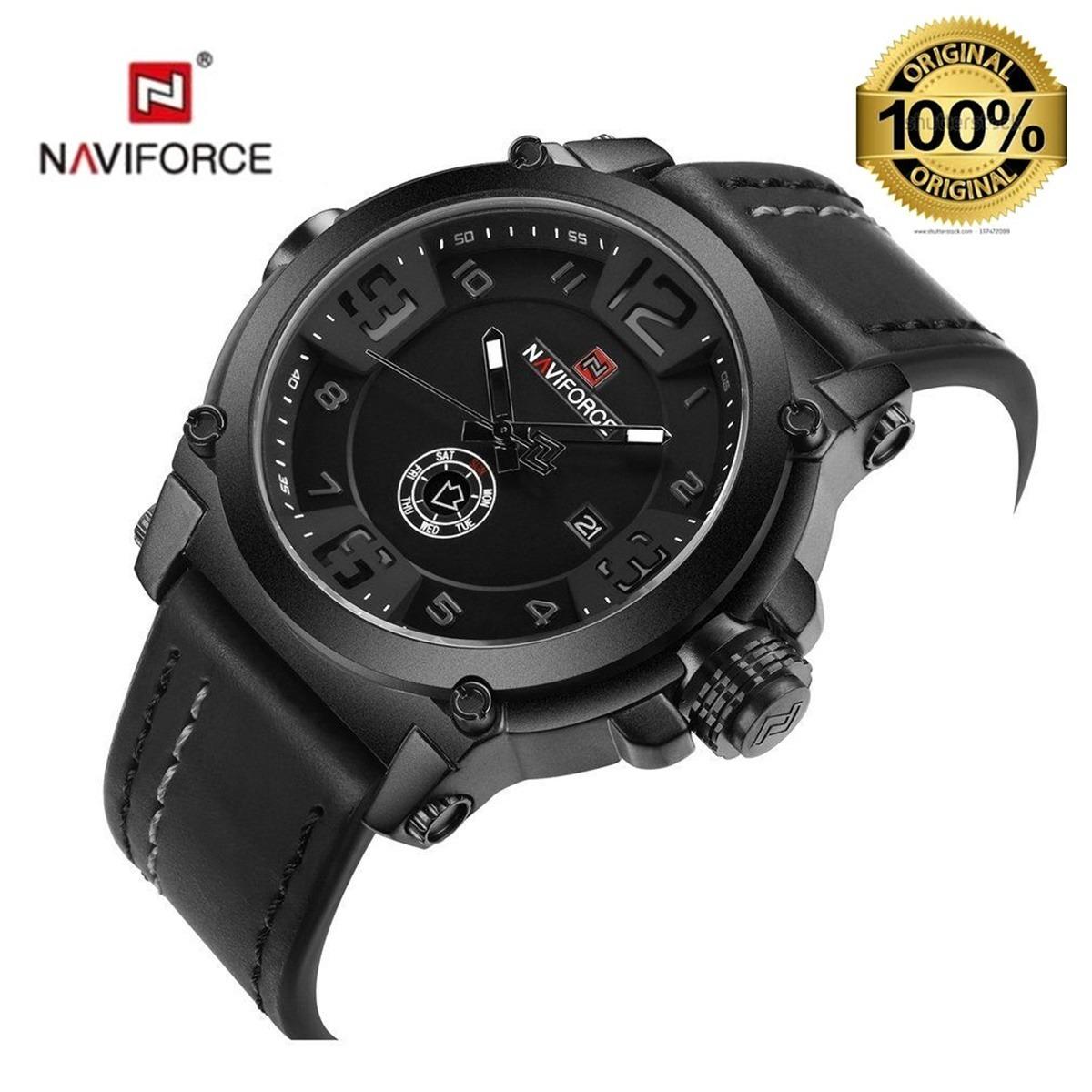 e3bb6e01381 Relógio De Pulso Masc Naviforce 9099 Pb Nota Fiscal +brinde - R  123 ...