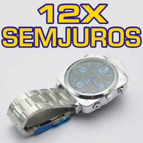 b2395ea9b6b Relogio De Pulso Masculino Abrir Gravador Voz Equipamentos - R  399 ...
