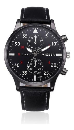 relógio de pulso masculino barato pulseira couro analógico