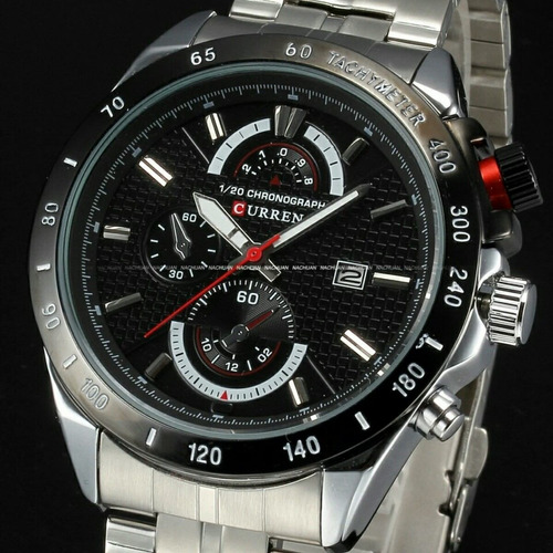 relógio de pulso masculino curren luxo social casual