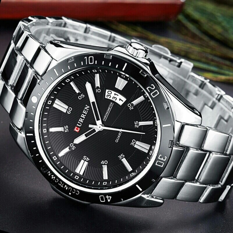 8be5ed92c relógio de pulso masculino curren moda homem social casual. Carregando zoom.