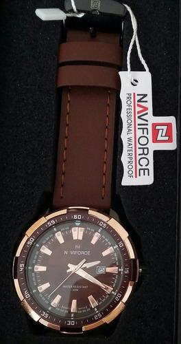 relógio de pulso masculino em aço inoxidável naviforce