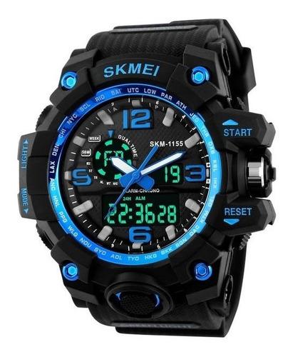 relógio de pulso masculino esportivo skmei 1155 prova d água