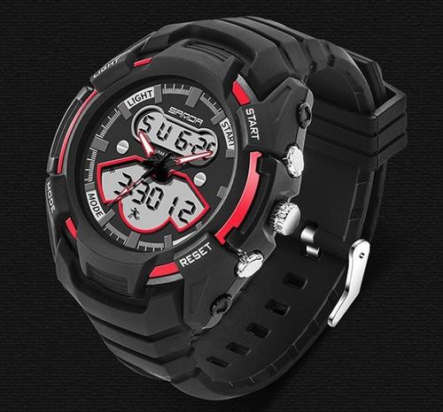 relógio de pulso masculino exclusividade vermelho borracha