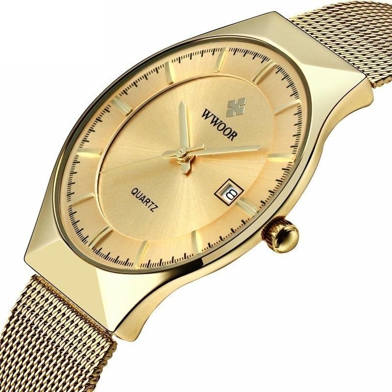 a09ef1bc02d relógio de pulso masculino importado luxo super slim + caixa. Carregando  zoom.