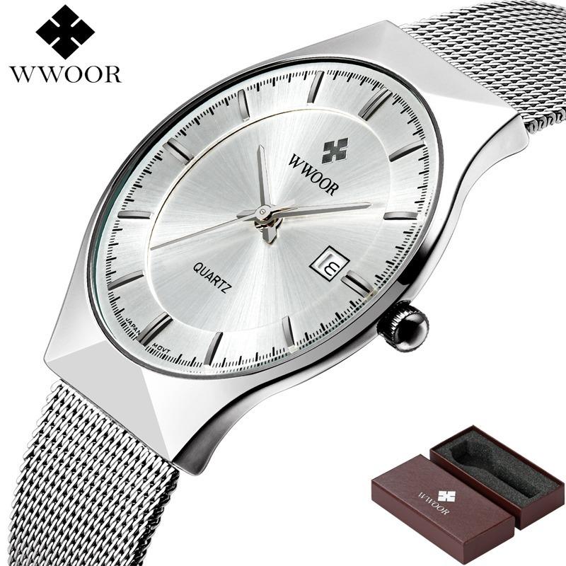 ffa9135958d relógio de pulso masculino importado super slim luxo + caixa. Carregando  zoom.