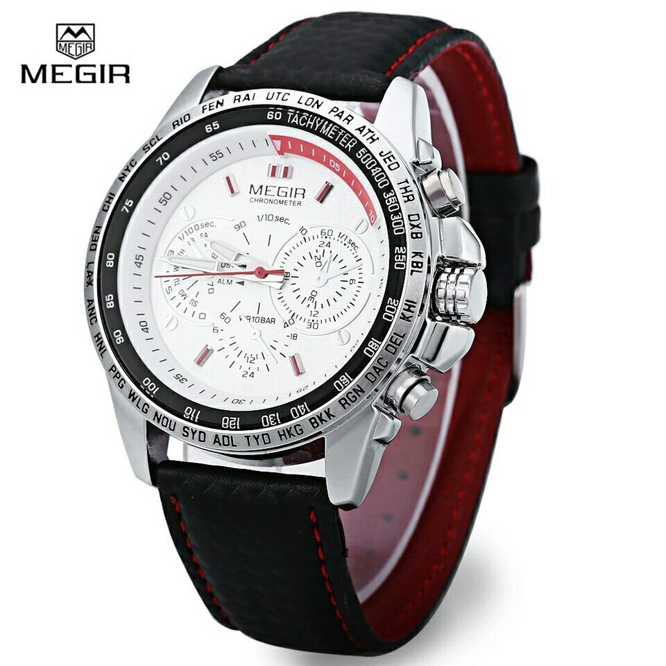 cae5e397a6d relógio de pulso masculino luxo sport megir frete grátis. Carregando zoom.