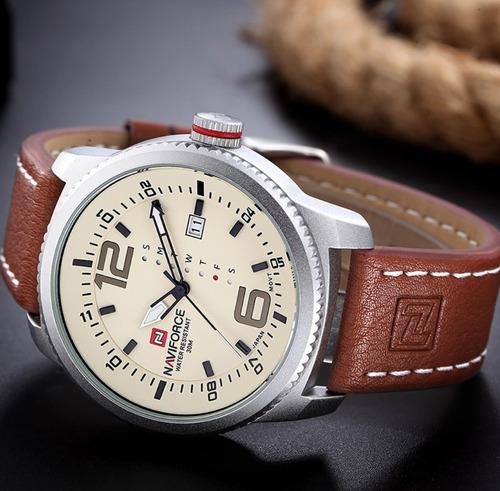 relógio de pulso masculino naviforce original prova d'água