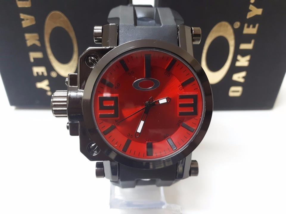 d0abcf66399 relogio de pulso masculino oakley gearbox titanium. Carregando zoom.
