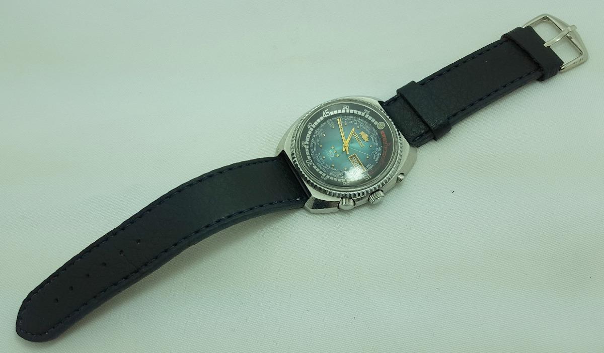 8d1e7487548 relógio de pulso masculino orient 3 chaves hora mundial. Carregando zoom.