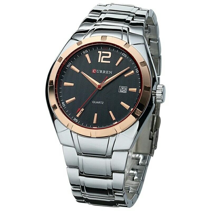 b52af1339 relógio de pulso masculino original da marca curren social. Carregando zoom.