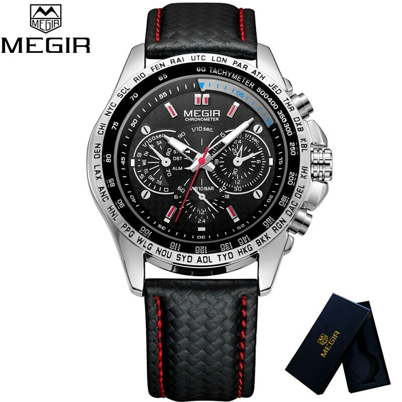 031268941b3 Relógio De Pulso Masculino Original Da Marca Megir Cod 1010 - R  130 ...