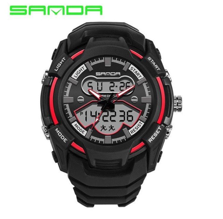 cbf4bb045d9 Relógio De Pulso Masculino Preto Com Vermelho Borracha Novo - R  142 ...