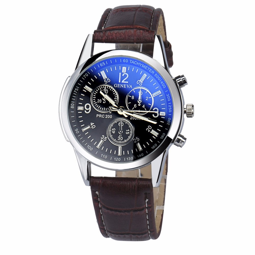 372033649b9 relógio de pulso masculino pulseira couro geneva yazole 271. Carregando  zoom.