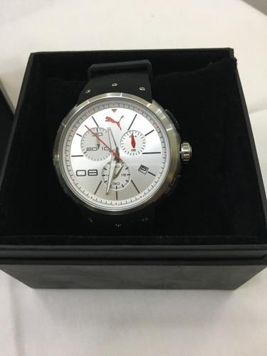 relógio de pulso masculino puma original preto e prata