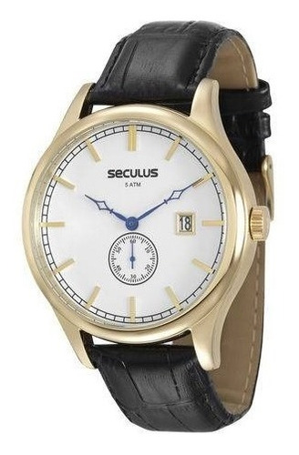 relógio de pulso masculino seculus 20369gpsvdc1