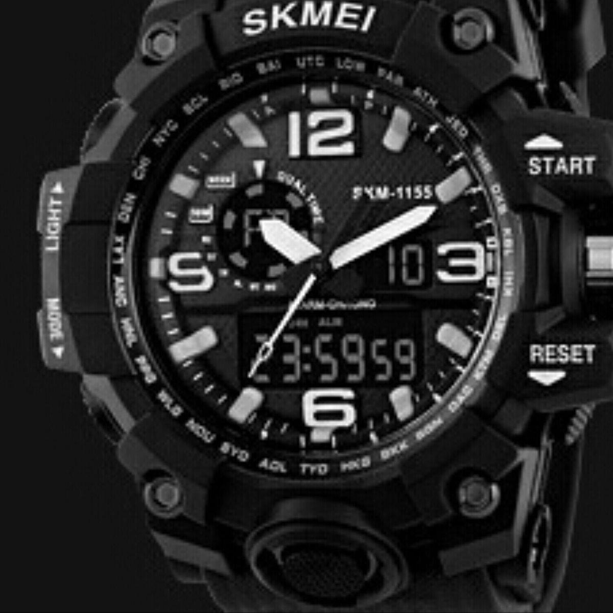 0c915623c66 relógio de pulso masculino skmei 1155 original esportivo. Carregando zoom.