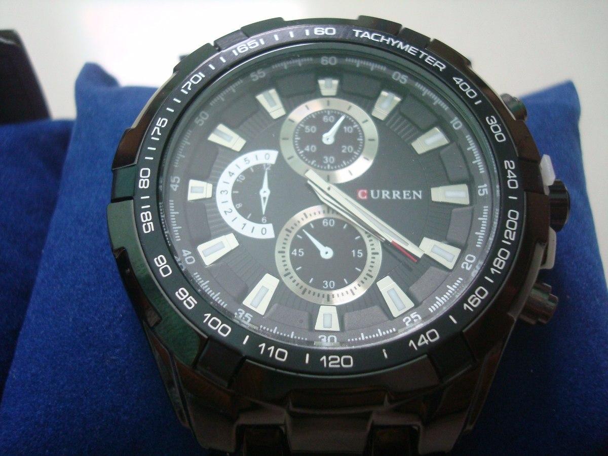 968af842bf6 relógio de pulso masculino - só tem o preto e dourado. Carregando zoom.