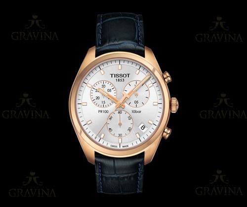 relógio de pulso masculino tissot pr 100 chronograph