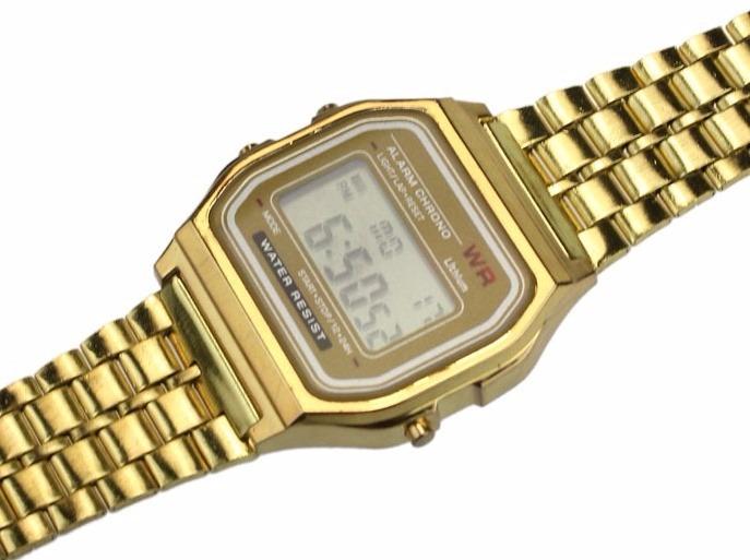 d30a7ece0ba Relógio De Pulso Masculino Vintage Digital Casio Wr Dourado - R  82 ...