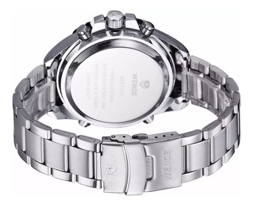 relógio de pulso masculino weide modelo wh-1103 preto