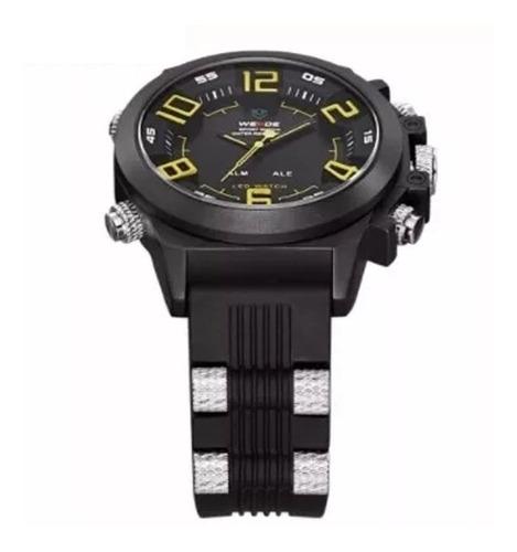 relógio de pulso masculino weide wh-5202a + frete grátis