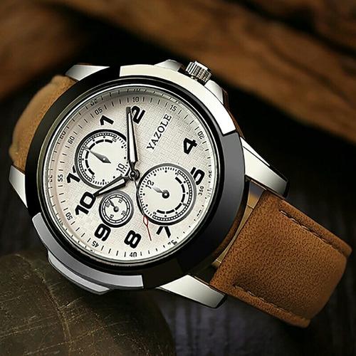 relógio de pulso masculino yazole quartz social casual
