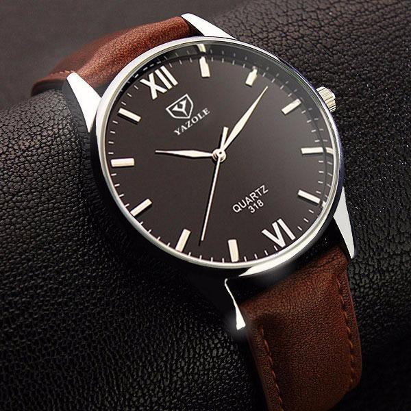 6f4f105cc01 Relógio De Pulso Masculino Yazole Social Quartz Luxo 318 Top - R  59 ...