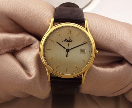 relógio de pulso mido masculino em ouro 18k j20007