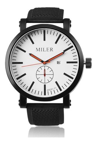 relógio de pulso miler a8291-01 casual esportivo masculino