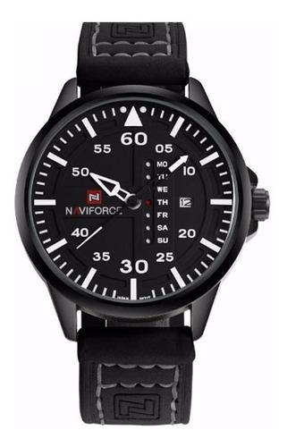relógio de pulso naviforce modelo nf9074m preto e branco