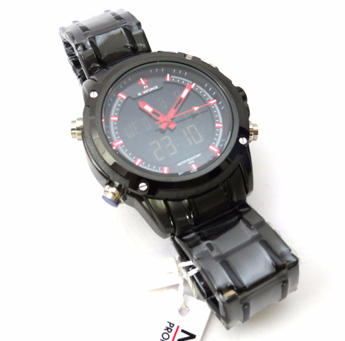 relógio de pulso naviforce nf9050m preto for dream