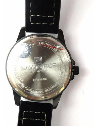 relógio de pulso naviforce nf9074m preto