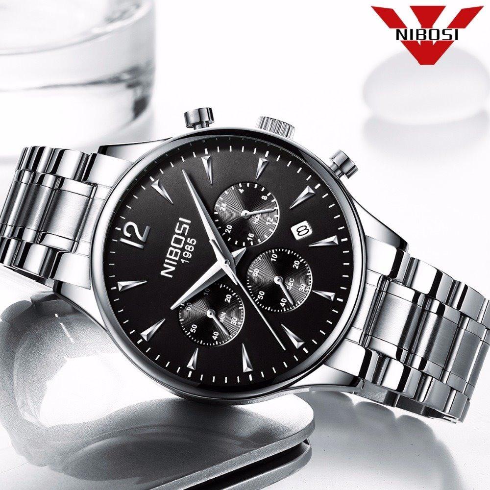 d8b15a8d0a7 relógio de pulso nibosi top de luxo à prova d água quartzo. Carregando zoom.