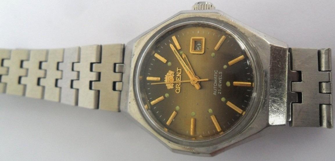 168aaf2729c relógio de pulso orient automático antigo 21 rubis. Carregando zoom.