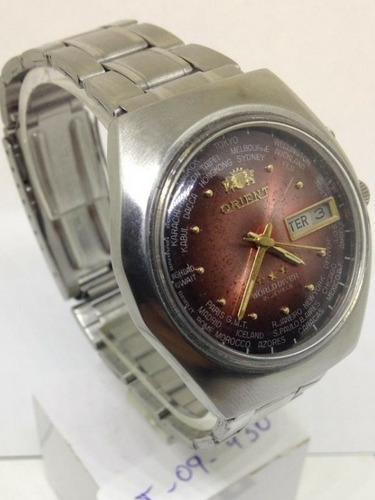relógio de pulso orient masculino automático t09430 webclock