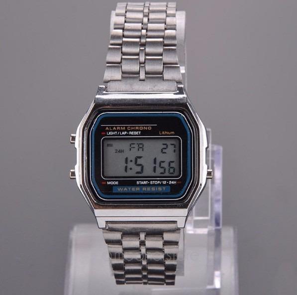 0df5e4d68ce Relógio De Pulso Para Homem Mulher Vintage Digital Wr Prata - R  35 ...