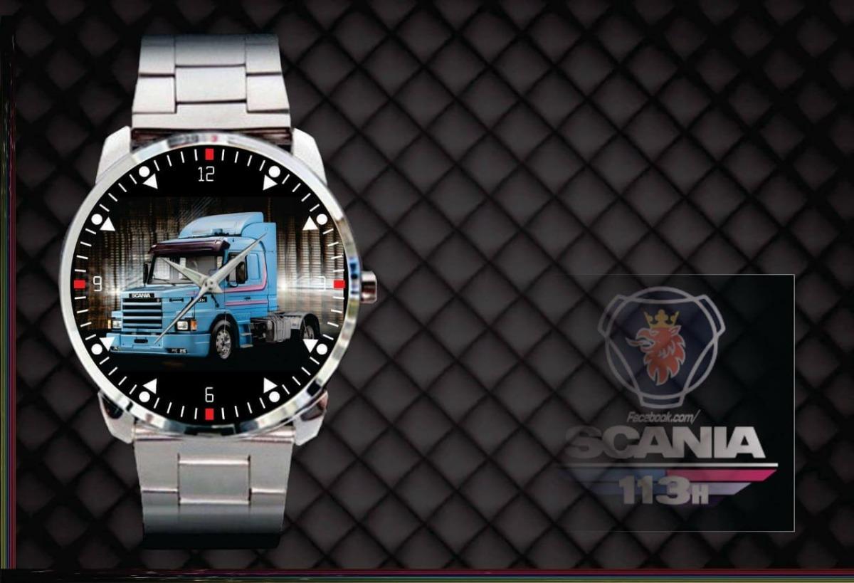 7fd723b6233 relógio de pulso personalizado desenho scania 113h cavalo. Carregando zoom.