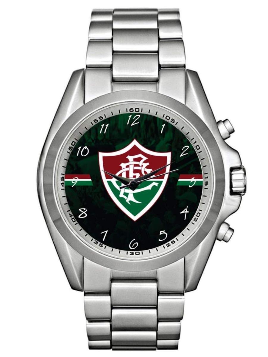 relógio de pulso personalizado fluminense football club femi. Carregando  zoom. 8b8e730cb2941