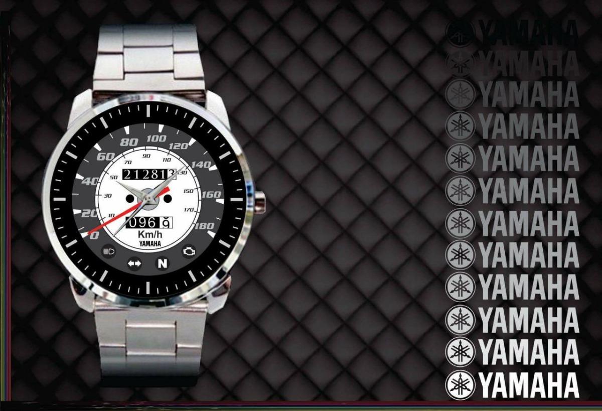 47cf356106e Relógio De Pulso Personalizado Moto Yamaha Painel Drag Star - R  84 ...