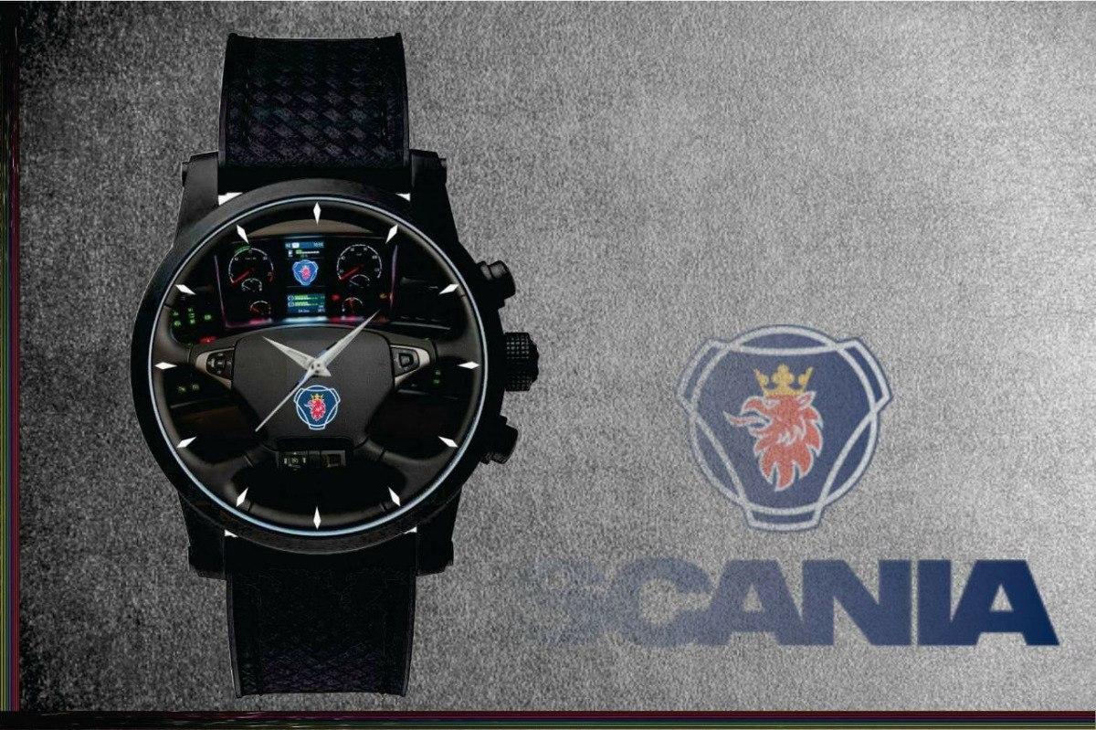 23cf44ee659 relógio de pulso personalizado painel scania caminhão onibus. Carregando  zoom.