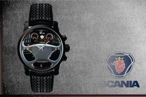 relógio de pulso personalizado painel volante logo scania v8