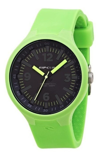 relógio de pulso ripcurl driver - verde e preto