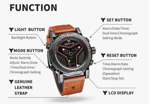 relógio de pulso ristos modelo no:9341g